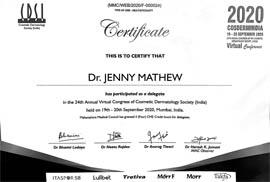 DrJennyMathew- Cosmetic Dermatology Society-CDSI2020