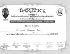 Dr Simin Muhammed kutty Certificate IADVL-SARCD2015