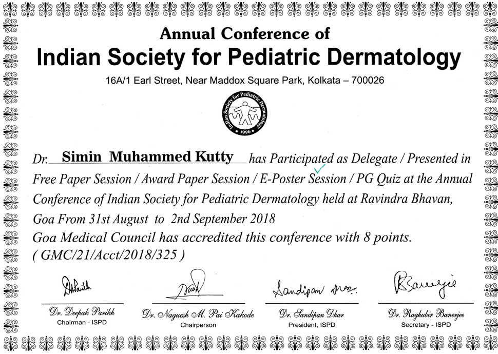 Pediatric Dermatology and Aesthetic Medicine consultant at