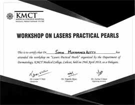 Dr Simin Muhammed kutty Certificate KMCT-workshop-2018